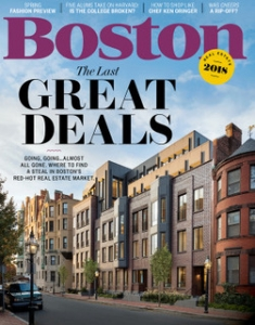 March Boston Magazine cover