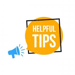Helpful Tips Megaphone Label